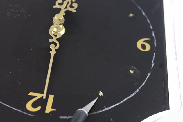 Make Your Own Clock Sign | Pretty Handy Girl