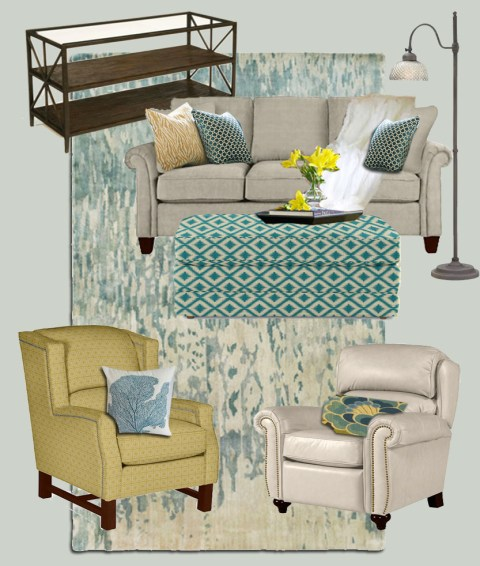 La-Z-Boy Living Room Mood Board | Pretty Handy Girl