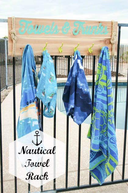NauticalTowel Rack