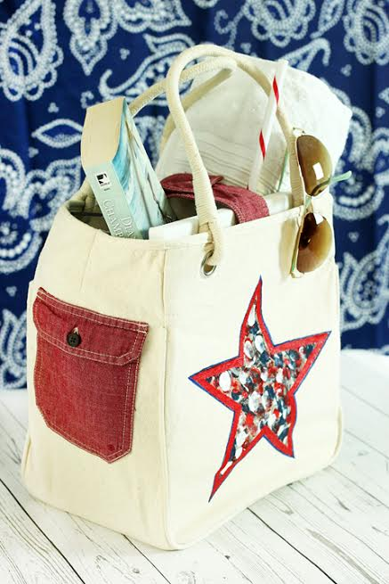 decorate tote with old shirt