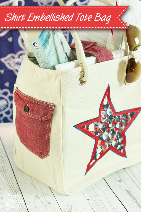 Customize a Tote Bag with an Old Shirt | Pretty Handy Girl