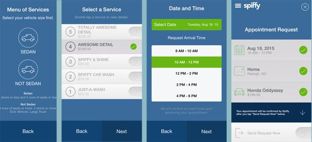Spiffy Mobile Car Wash app | Pretty Handy Girl