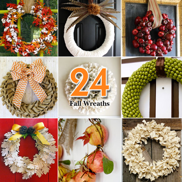24 Creative Fall Wreaths
