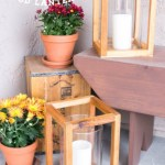 DIY Rustic Wood Lanterns