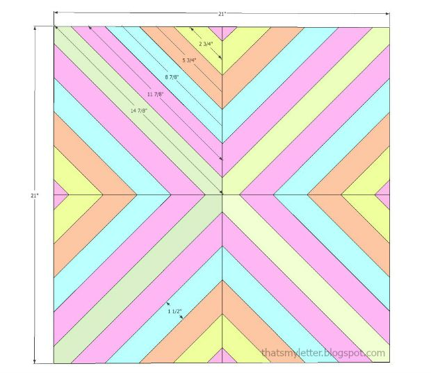 wall quilt layout
