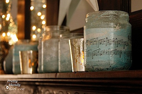 Glass Jar Votive Holders