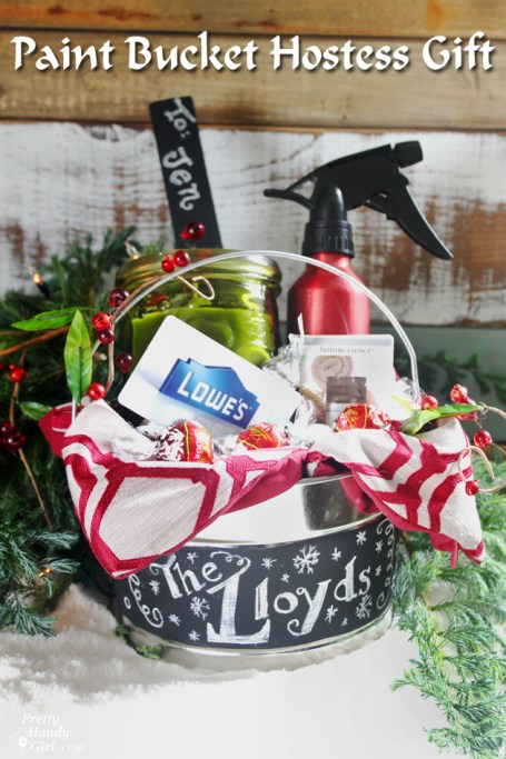 Hostess Gift in Paint Basket