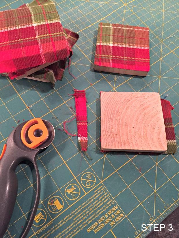 fabric & wood coasters step 3