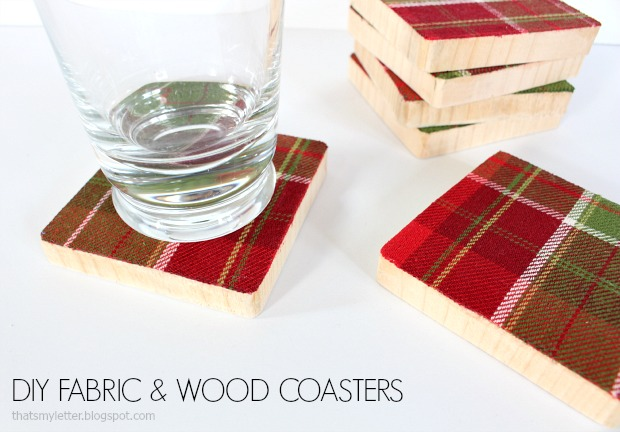 fabric & wood coasters