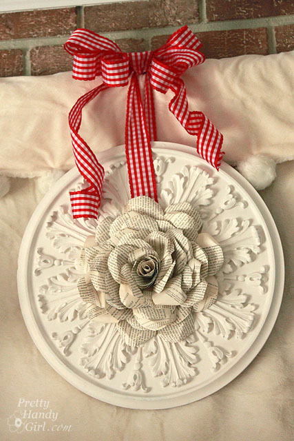 Bookpage Rose Wreath