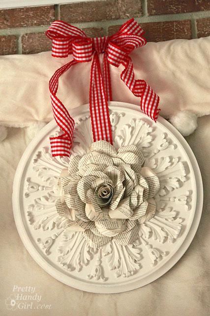 Bookpage Rose Wreath