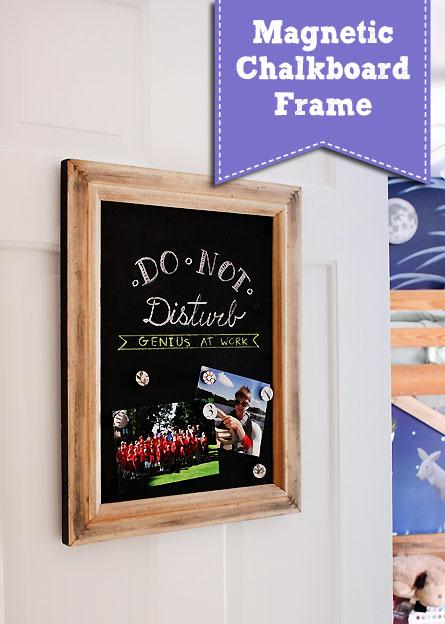 Magnetic Chalkboard Frame