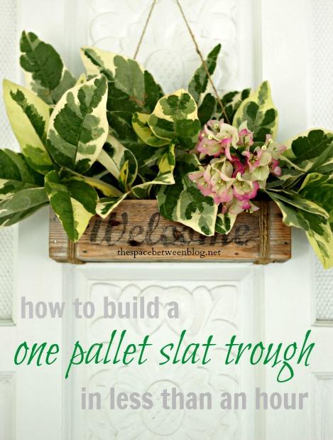 DIY Slat Bin from Pallet
