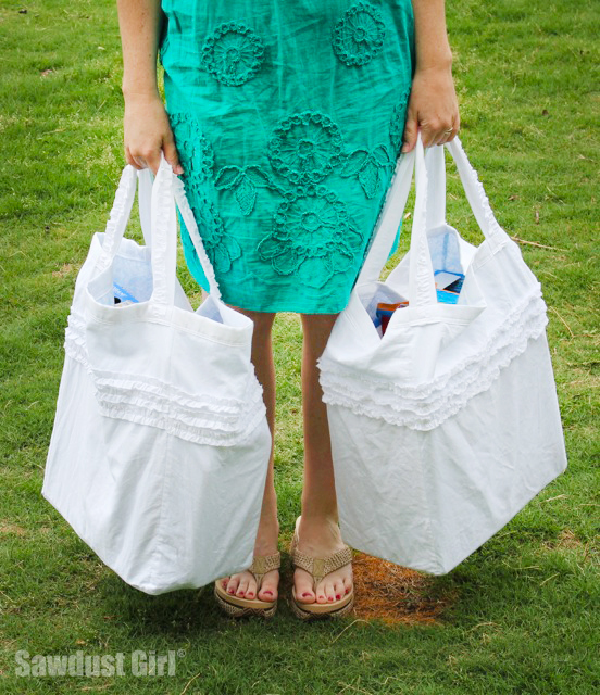 Cute Reversible Reusable Tote Bag
