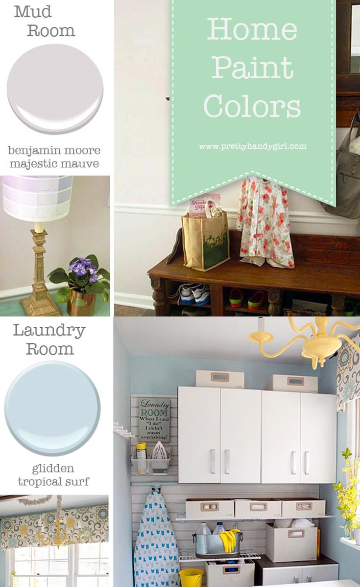 Questions on home paint colors? Pretty Handy Girl shares all the details on the paint colors in her home | Home Paint Color Scheme #prettyhandygirl #paintcolors #homepaintcolors
