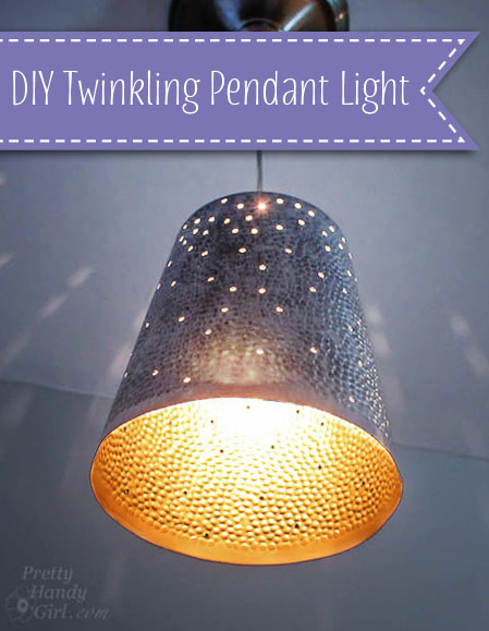 DIY Twinkling Pendant Light | Pretty Handy Girl