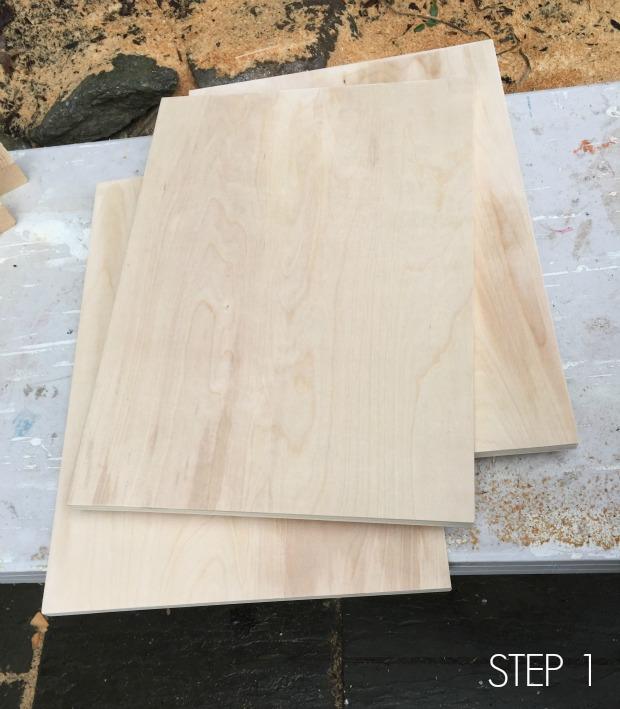 plywood frame step 1