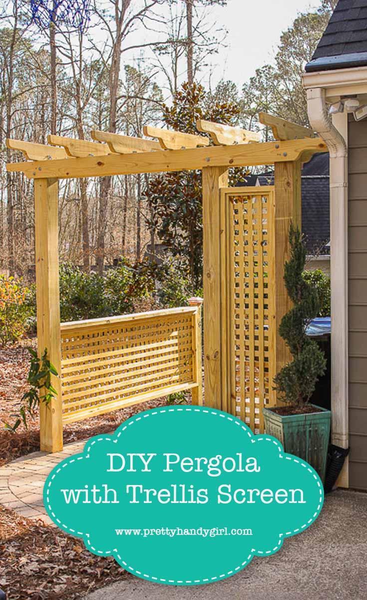 How to build a pergola with a trellis