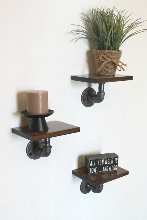 Industrial Display Shelves I Pretty Handy Girl