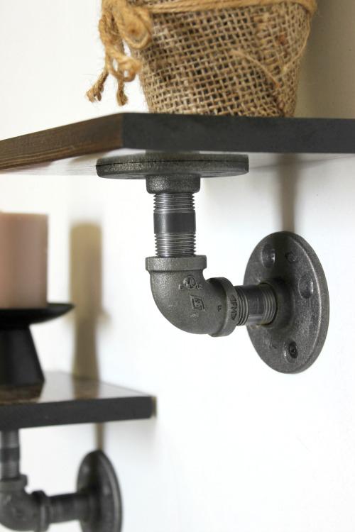 Industrial Display Shelves I Pretty Handy Girl