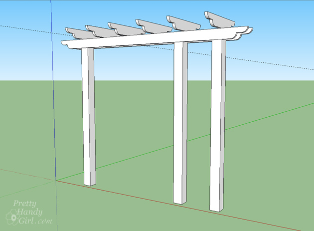Build a Pergola with Trellis to Screen Your Trash Cans | Pretty Handy Girl