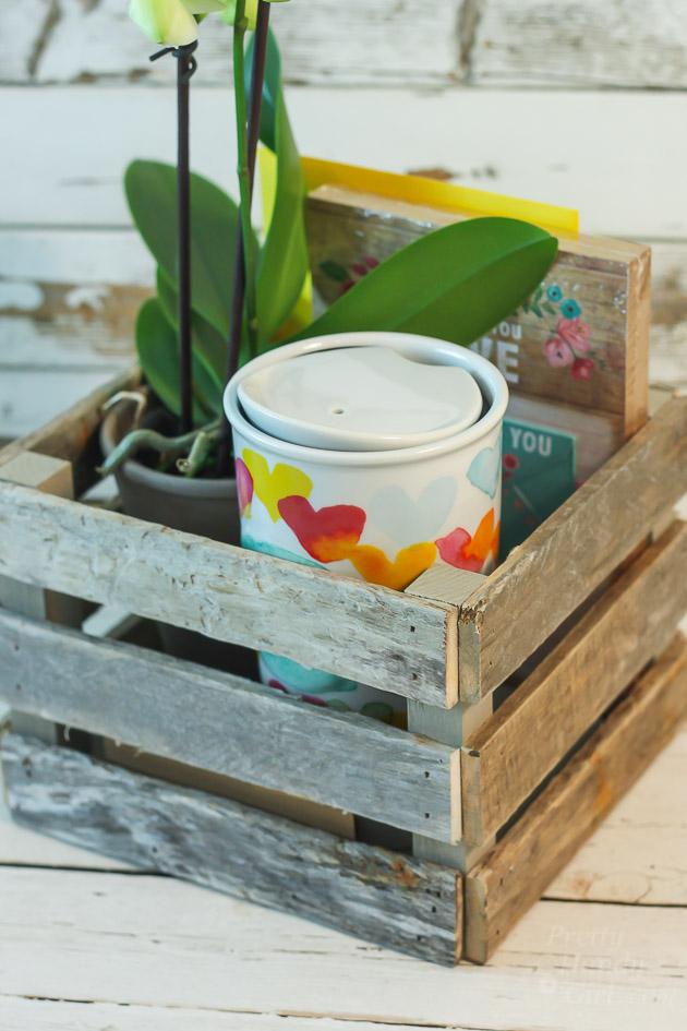 Hostess gift ideas Drift wood Gift Crate