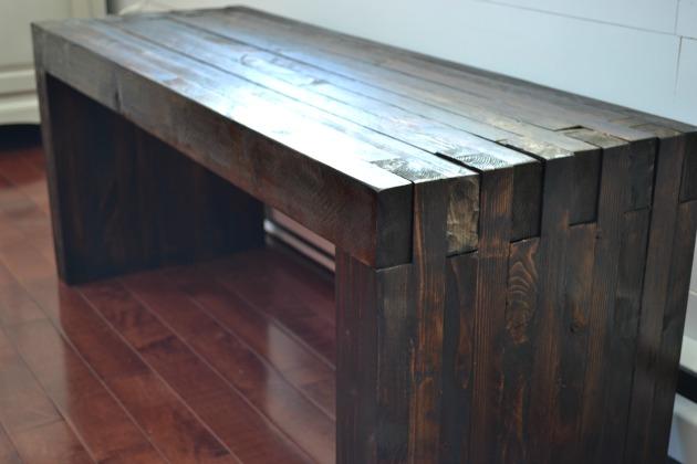 DIY Outdoor Dining Bench