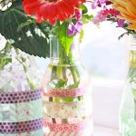 Simple Washi Tape Vases {Teacher's Appreciation Gifts}