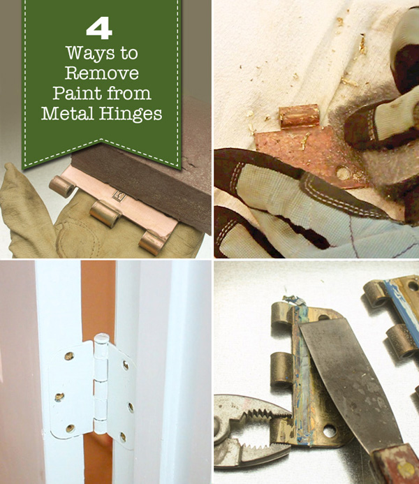 4 Ways to Remove Paint from Metal Hinges (& other door