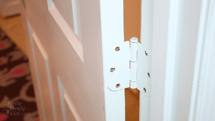 remove paint from metal hinges