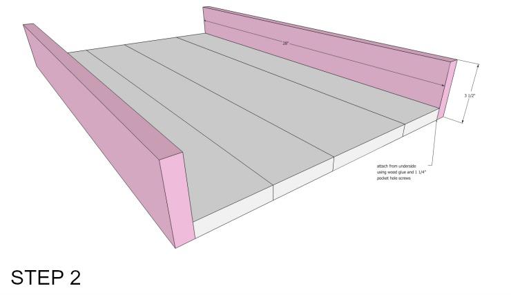 cedar underbed storage step 2