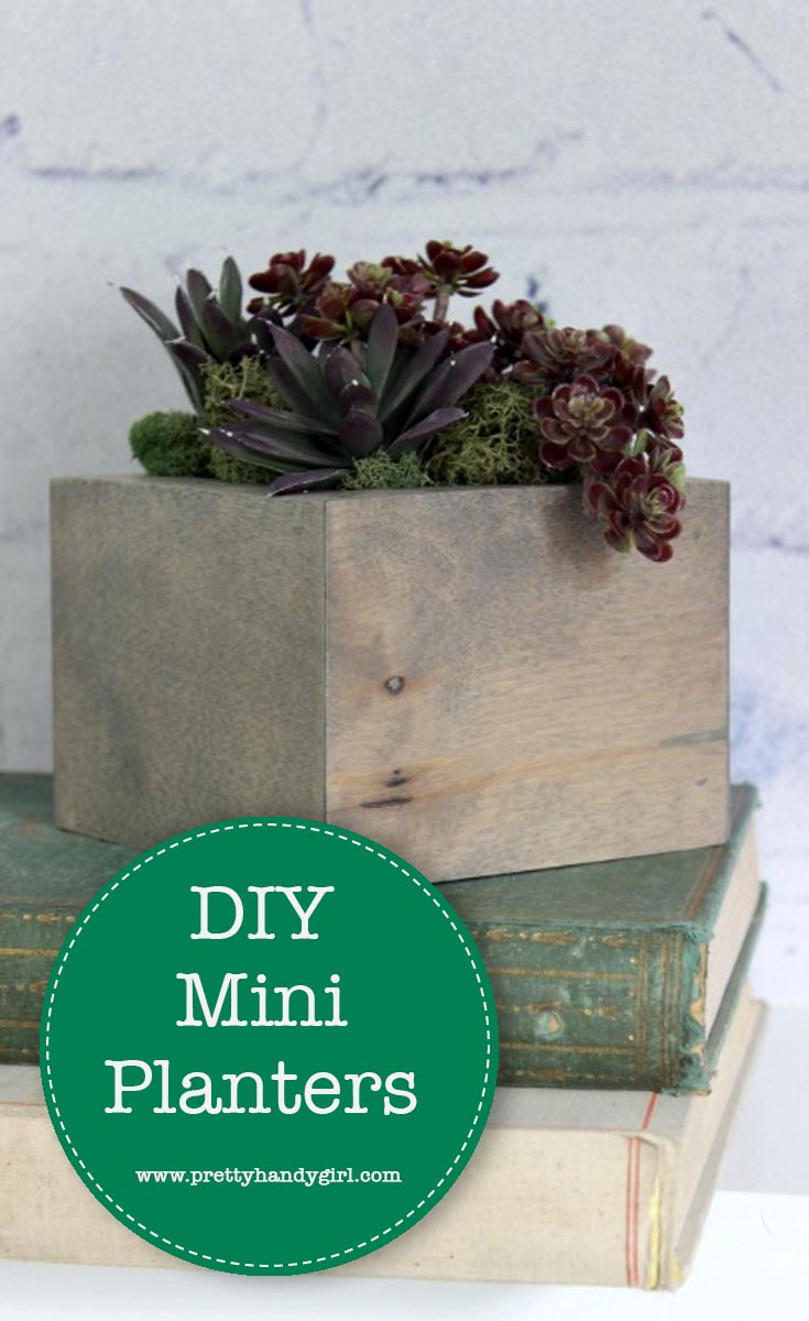 With only a few tools and a couple hours you can make your own simple DIY Mini Planters | Pretty Handy Girl #prettyhandygirl #DIY #planter