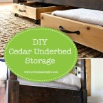 Let's build some DIY cedar under bed storage bins and make use of that hidden space! | Pretty Handy Girl #prettyhandygirl #storage #DIY #organization