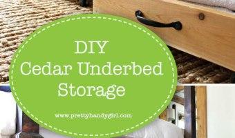 Let's build some DIYcedar under bed storage bins and make use of that hidden space! | Pretty Handy Girl #prettyhandygirl #storage #DIY #organization