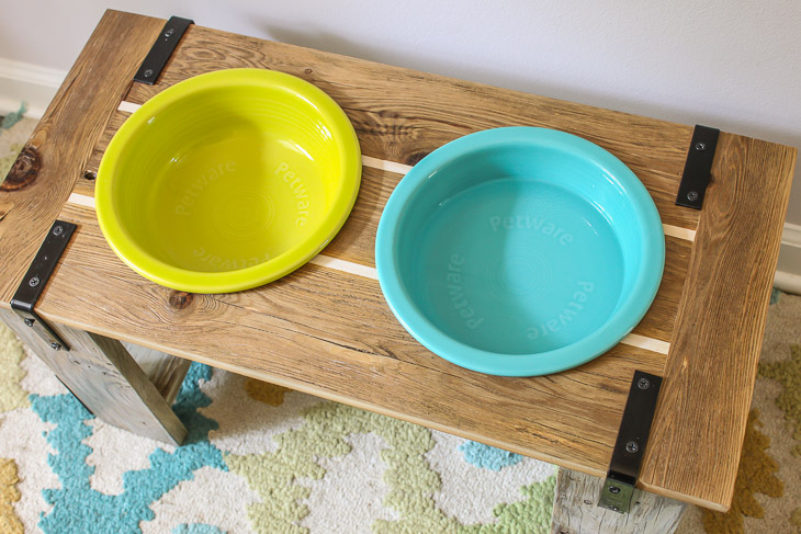 Rustic Industrial Dog Bowl Feeder Stand | Pretty Handy Girl