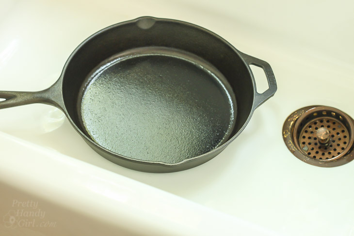 remove scratches from a cast iron sink