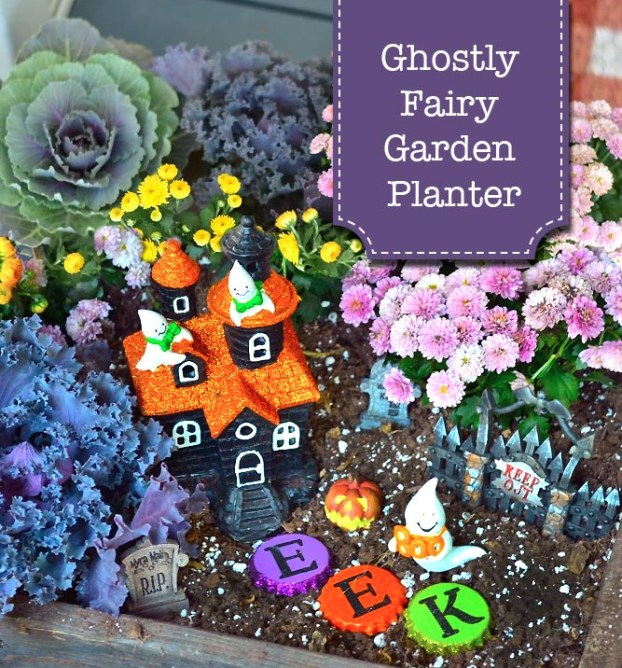 Ghostly Fairy Garden Planter