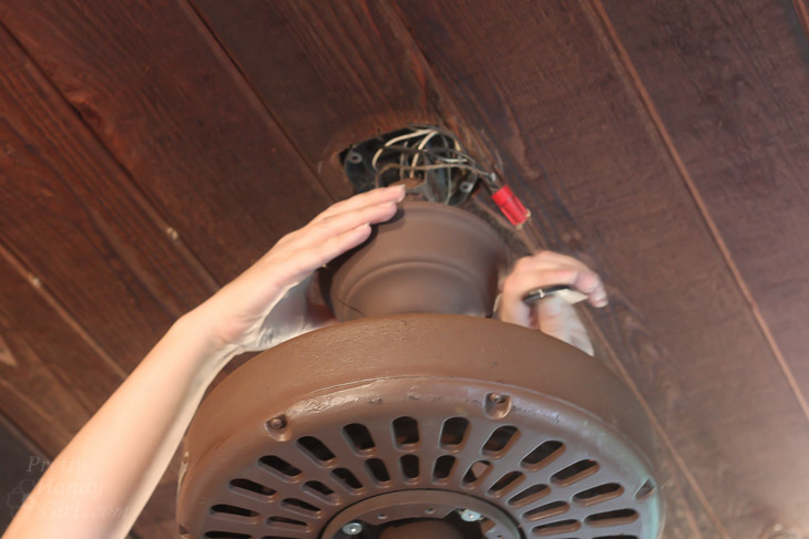 Installing the Most Beautiful Ceiling Fan | Haiku Copper Luxe Ceiling Fan | Pretty Handy Girl