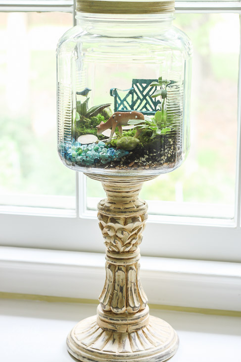 Woodland Fairy Garden in a Jar | Pretty Handy Girl