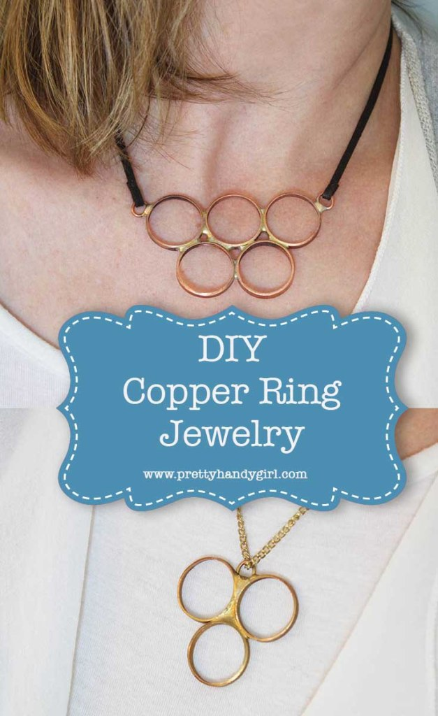 This DIY copper ring jewelry is the perfect idea for a handmade gift! | Pretty Handy Girl #prettyhandygirl #giftidea #DIYgift #DIYjewelry