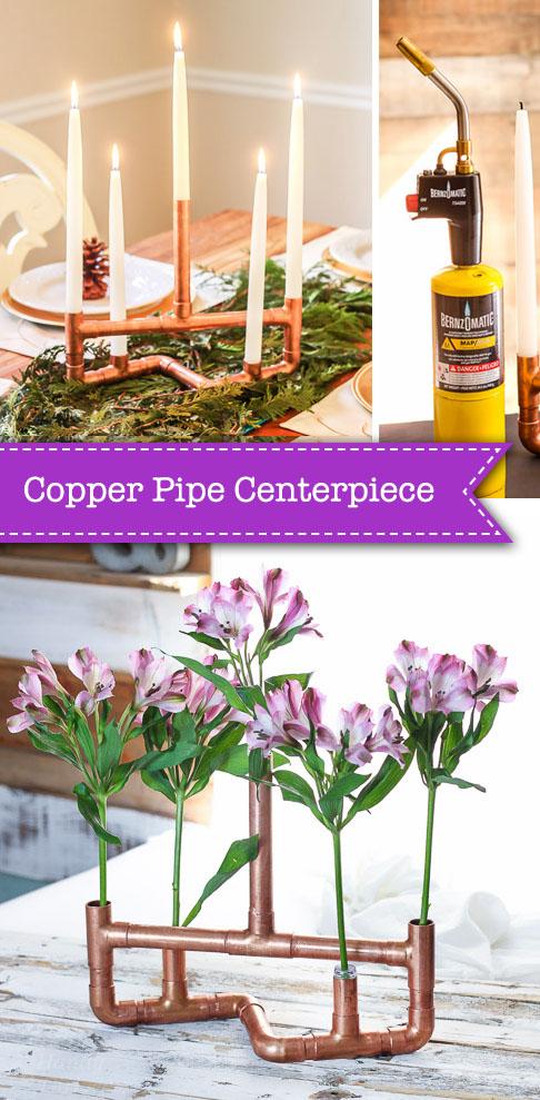 DIY Copper Pipe Centerpiece   Pretty Handy Girl
