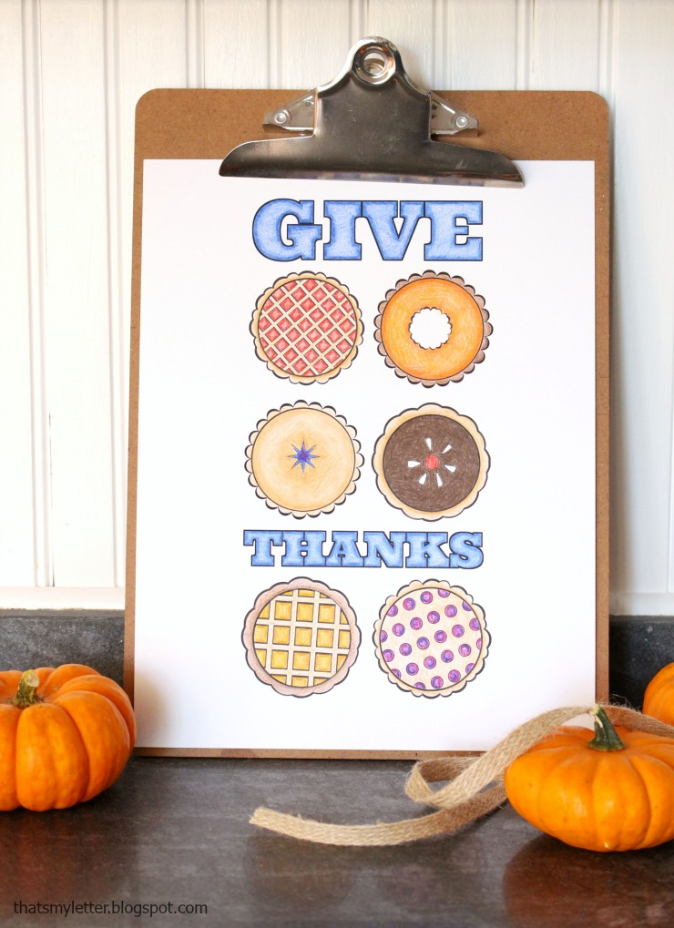 Pick up this FREE Thanksgiving pie printable for a fun coloring activity to do as a family! | Pretty Handy Girl #prettyhandygirl #printable #thanksgivingprintable