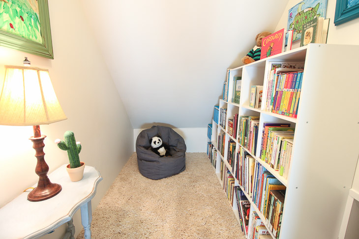 Childrens' Closet Library with Secret Pass Through | Pretty Handy Girl
