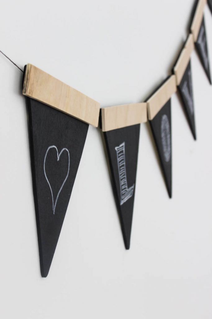 chalkboard paint project Wooden party banner