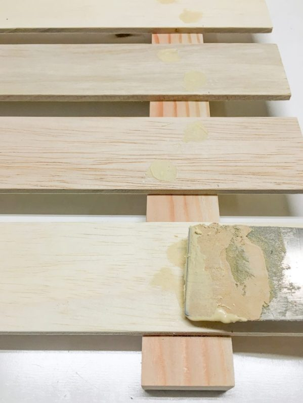 If desired, fill the nail holes with wood filler.