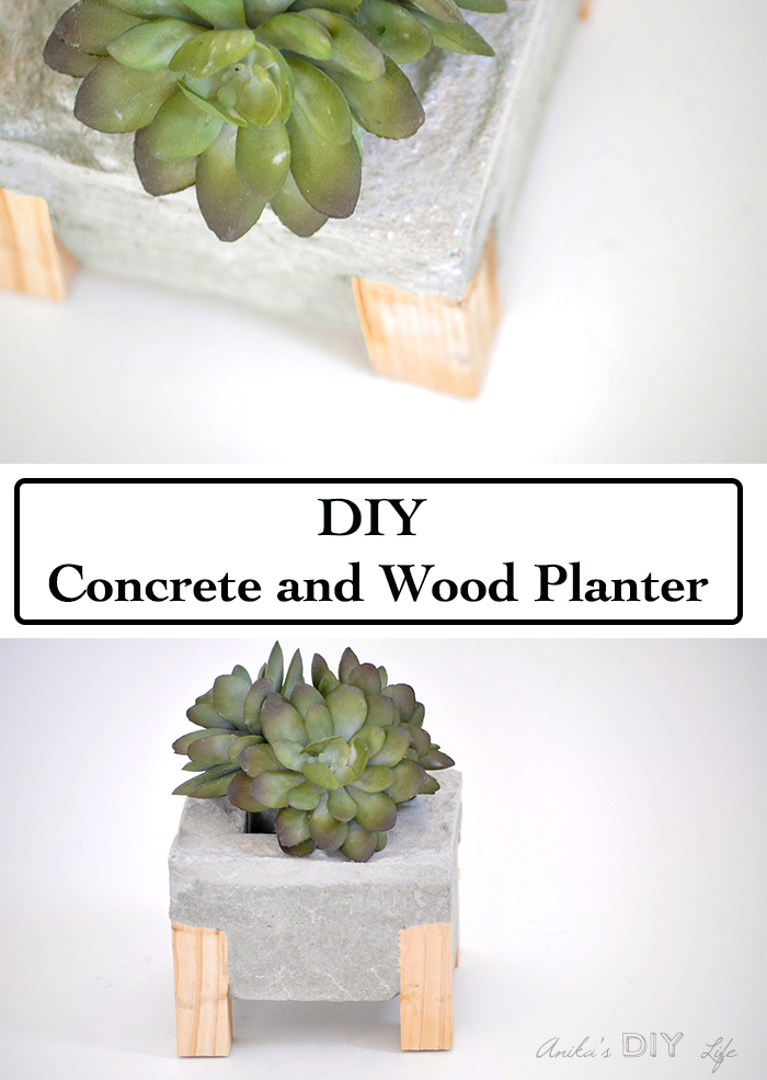 How to make Concrete and Wood planters