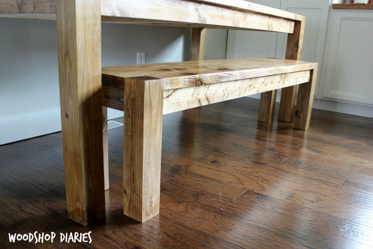 how to build a modern farmhouse bench