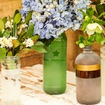 Frosted Vases from the Recycling Bin | Pretty Handy Girl