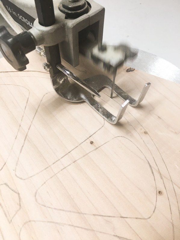 Cut out your half circle with a jigsaw or scroll saw.