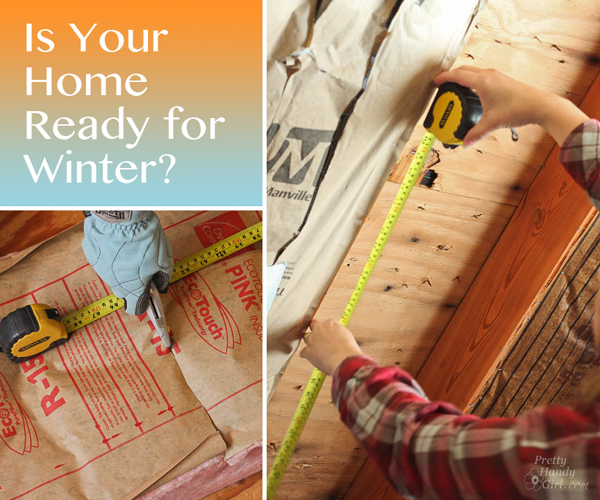 make your home winter ready, replace insulation